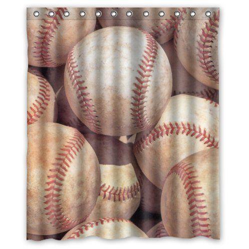 Special Custom Vintage Baseball Mildrew Resistant Shower Curtain X   Bathroom  Decor(Fabric)