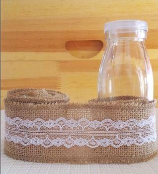 Diy decoración del hogar decorativas guirnaldas de flores tejido de yute rolll wedding photo booth props artesanía wraps yute cordón rollo de cinta