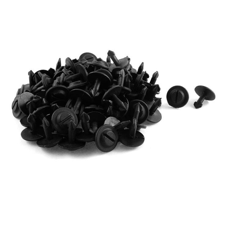 Unique Bargains 100 Pcs Black Plastic Splash Guard Defender Fastener Mat Clip for VW Passat B5