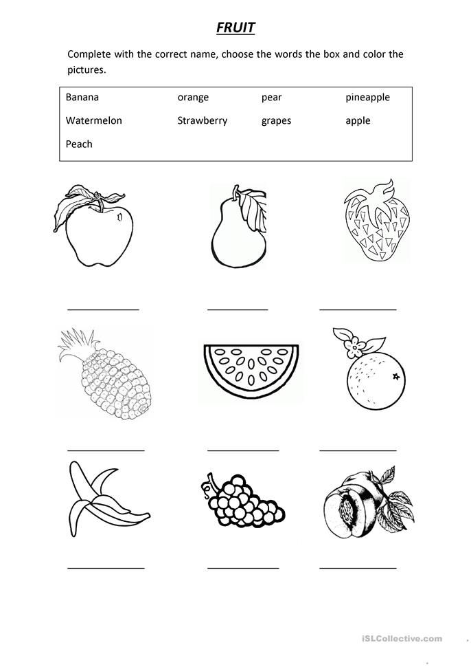 Vocabulary Fruit English Activities For Kids English Lessons For Kids English Worksheets For Kids