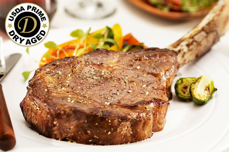 """Premium Angus Beef Dry Aged Tomahawks: """"These Dry Aged Tomahawks are the Ultimate Bone-In Ribeye, with an extra long… #Beef #Steaks #Wagyu"""