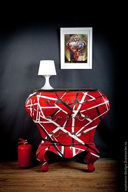 Мебель ручной работы. Ярмарка Мастеров - ручная работа Красный комод Ван Хален. Handmade.