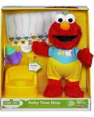 Your toddler can practice potty training basics with #Elmo's help! Click above to buy this educational toy (it comes with a reward chart and stickers, too!).