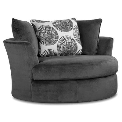 Found it at Wayfair - Transient Swivel Barrel Chair