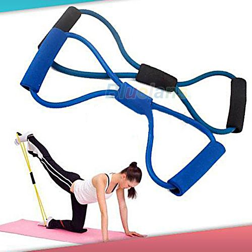 Resistance Training Bands Tube Workout Exercise for Yoga 8 Type Fashion Body Building Fitness Equipment Tool 04W3