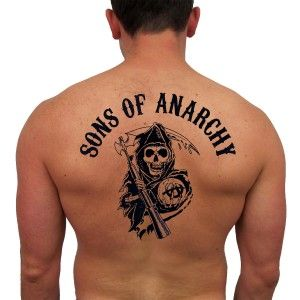 Sons of Anarchy Temporary Reaper Tattoo #SOAFX