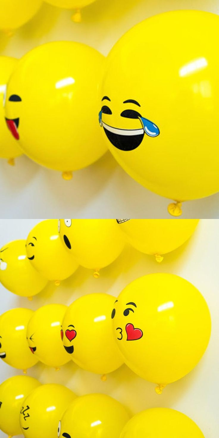 [Visit to Buy] 10 pcs/lot 2.8g Emoji Expression Latex Balloons Party Decoration Kids baby birthday Party Suppliers Inflatable Toys globos #Advertisement