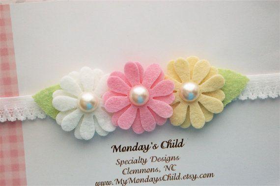 Hey, I found this really awesome Etsy listing at https://www.etsy.com/listing/225679766/daisy-baby-headband-daisy-headband-felt