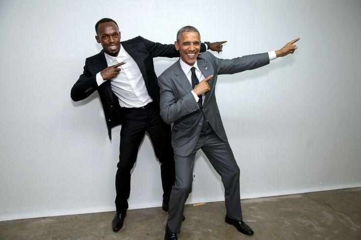 President Obama and Usain Bolt.