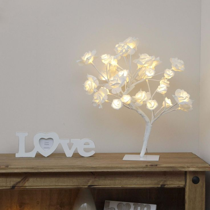 Plug In Pre Lit Rose Twig Tree, 32 Warm Warm White LEDs