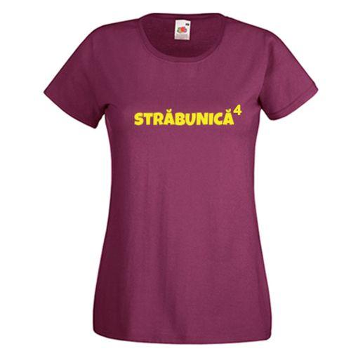Tricou Strabunica (la puterea ...)  Tricou personalizat cu mesajul Srabunica (la puterea) iar numarul poate fi scris de dvs.