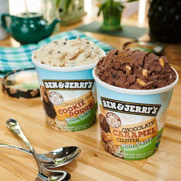 Ben Jerry S Veganizes Fan Favorite Chocolate Cookie Dough Flavor Vegan Ice Cream Brands Ice Cream Brands Chocolate Chip Cookie Dough