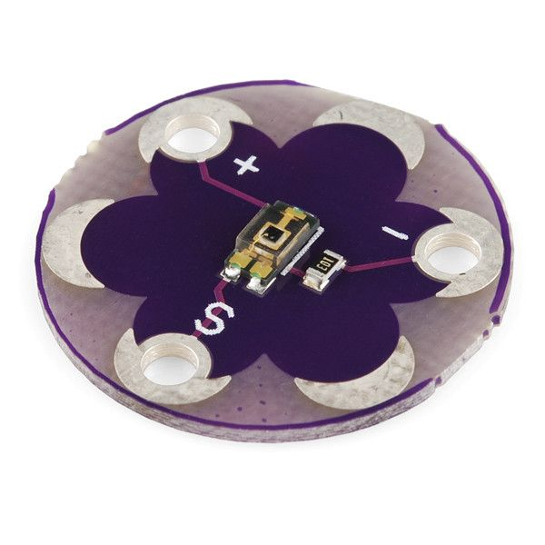 - Micro Light Sensor communicates light intensity through voltage ( 0V to 5V ) - Designed for wearable ( textile) projects - Use with LilyPad Arduino, Arduino or any electronic device reading voltage