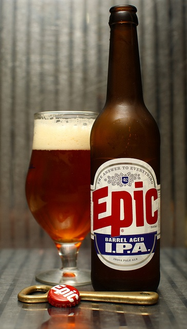 Epic - Barrel Aged IPA. Ok, so, I haven't had this in a while but I was more fond of the Armageddon IPA compared to this when I had it. Still, this is still a very fine beer which many people would prefer to drink over the regular IPA.