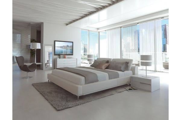Movido Contemporary Bed White