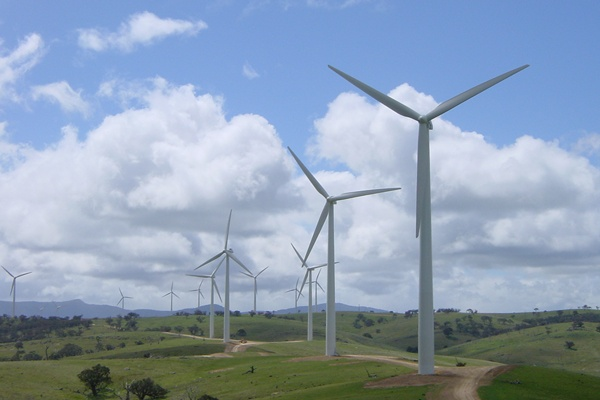 #Wind farm at #Challicum Hills, Victoria  #renewable #energy