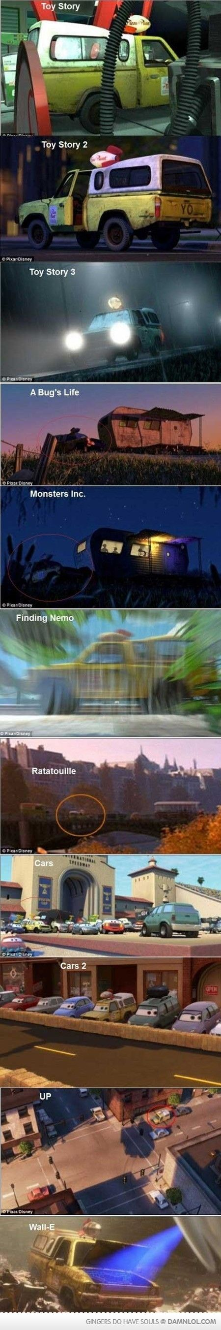 Look! the same truck throughout all the movies!!!