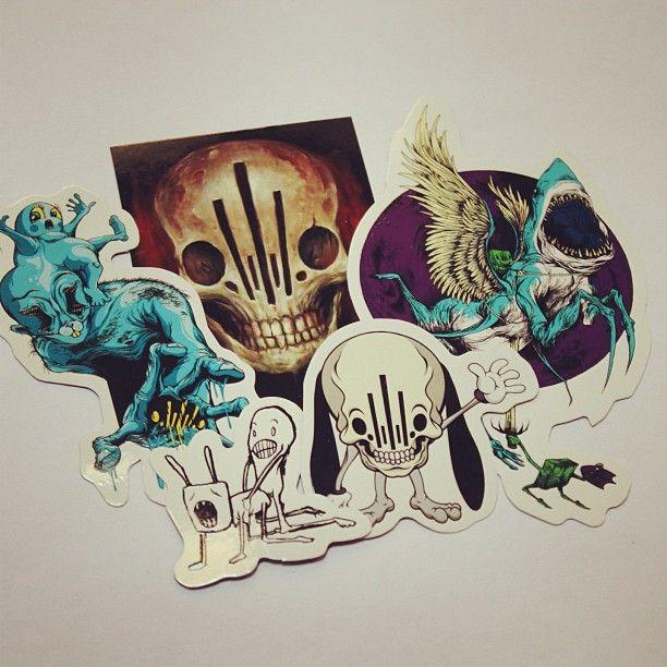 Zero friends vinyl stickers and fornicating rabbit folk