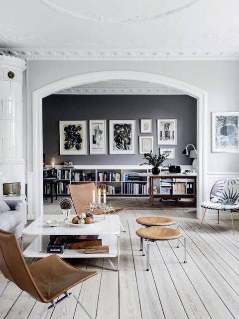 A grand design of course, with the black feature wall perfectly framed by the interior arch -Domino