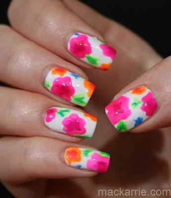 MacKarrie Beauty - Style Blog: Flower Naildesign mit China Glaze Summer Neons