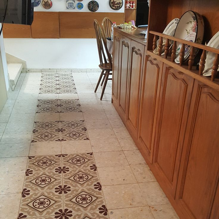 Kitchen Floor With Tiles Stickers For More Designs See Our Etsy Https