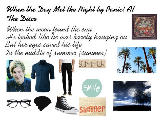 """When the Day Met the Night by Panic! At The Disco Outfit #2"" by pop-punk-fangirl ❤ liked on Polyvore featuring LE3NO, Burton, Rolla's, Converse, Style & Co., Seventy Tree, Nordstrom Rack, Ødd., men's fashion and menswear"