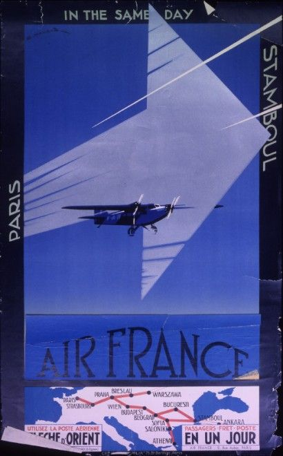 ancienne affiche air france 321 410x660 Anciennes affiches dAir France  design bonus