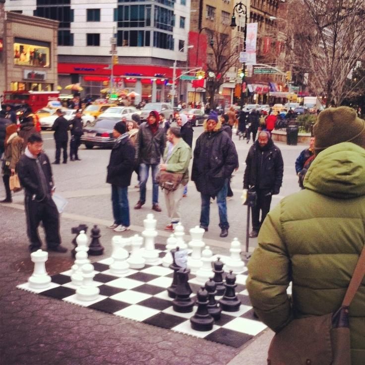 A big chess player