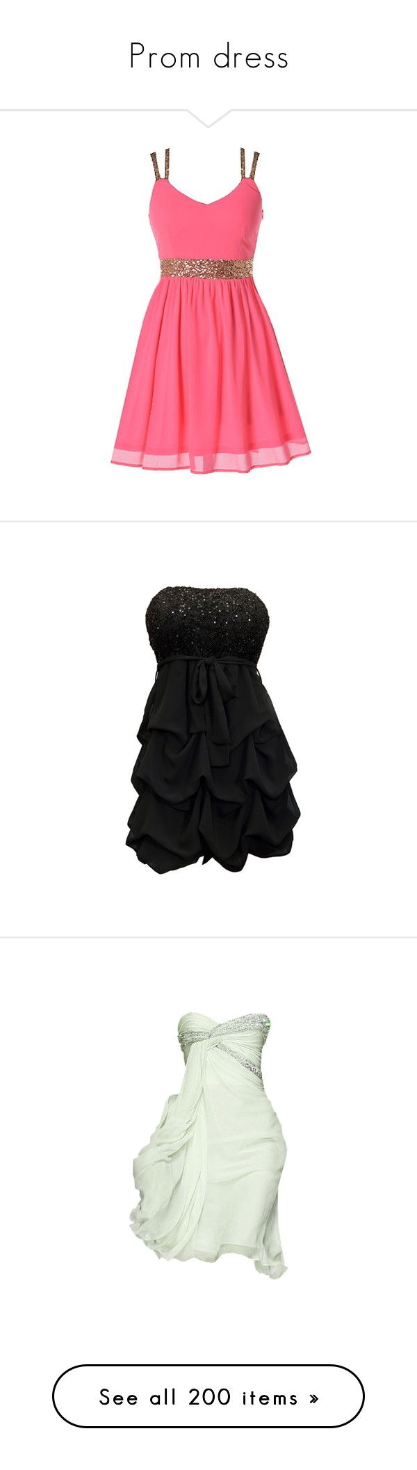 """Prom dress"" by roplama ❤ liked on Polyvore featuring dresses, vestidos, short dresses, pink, short sequin dress, pink sparkly dress, short sequin cocktail dresses, pink dress, robe and plus size short cocktail dresses"