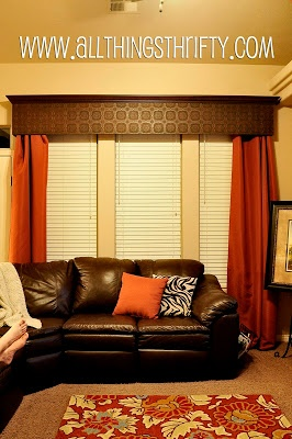 Window Valance - created with copper tin-ceiling tiles.
