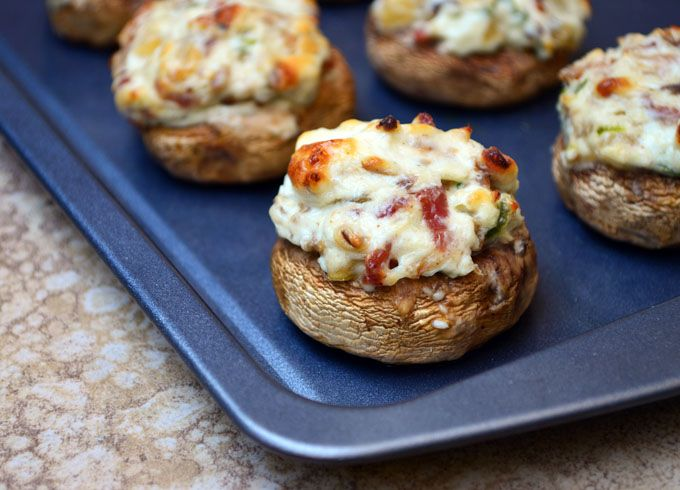 ... - Stuffed Mushrooms on Pinterest | Crabs, Bacon and Cajun sausage
