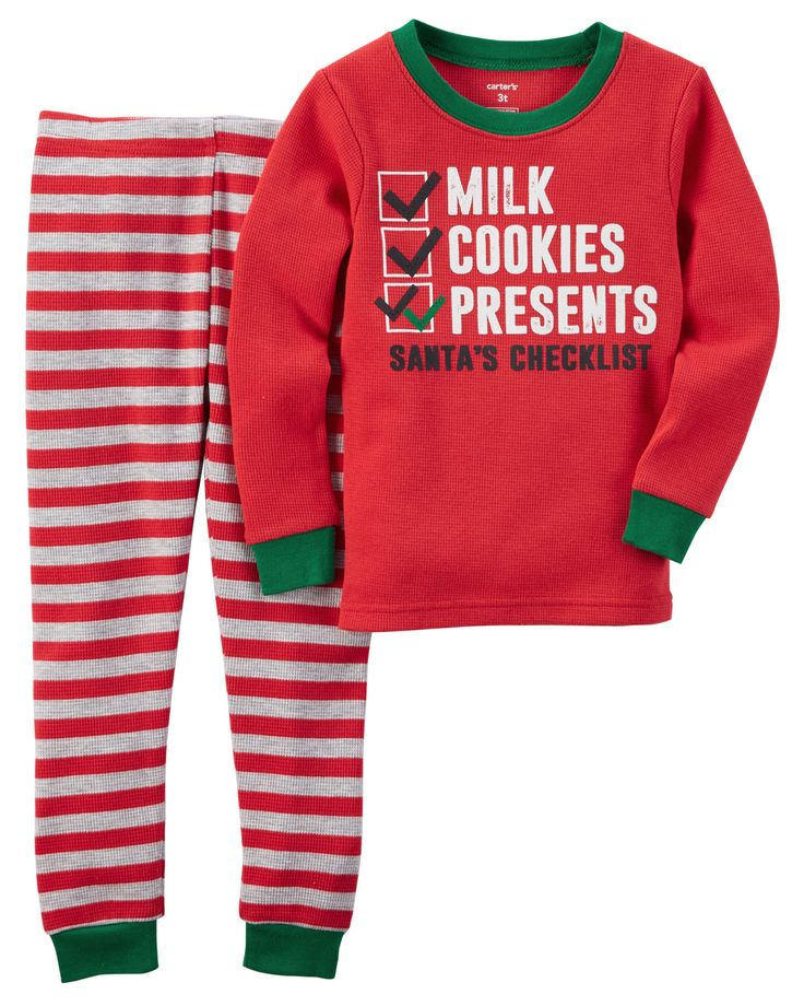 Toddler Boy 2-Piece Snug Fit Cotton Christmas PJs | Carters.com