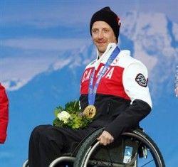 #Sochi - Josh Dueck - Canada's Flag Bearer, Closing Ceremonies.