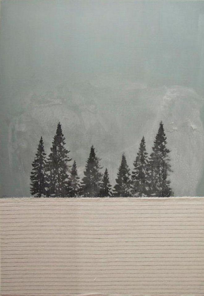 """Gaia Lionello,""""Peza"""" ,tecnica mista su tela, 100x70 cm, 2011"""