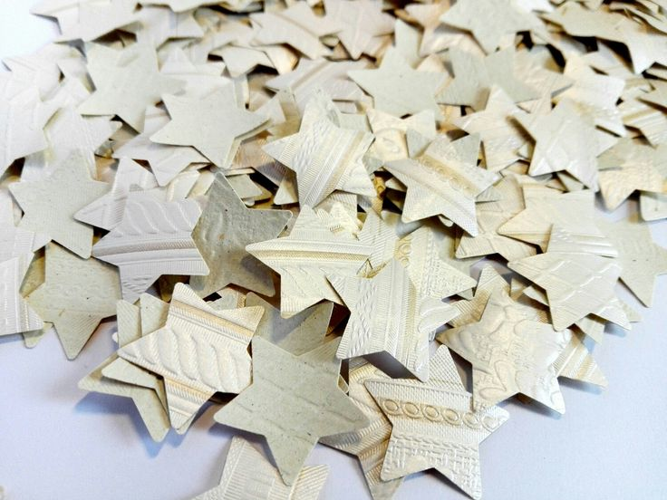 Excited to share the latest addition to my #etsy shop: star confetti pearl white embossed textured 300pcs 0,8inch diameter #wedding#Christmas#star http://etsy.me/2j5rJCM