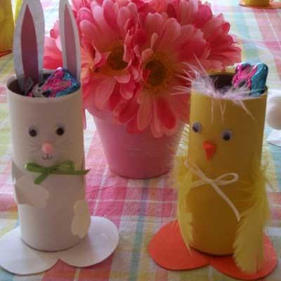 Decorazioni di Pasqua: ricicliamo i rotoli. Speciale Pasqua 2013. Sottocoperta.Net: il portale di Viaggi, Enogastronomia e Creatività