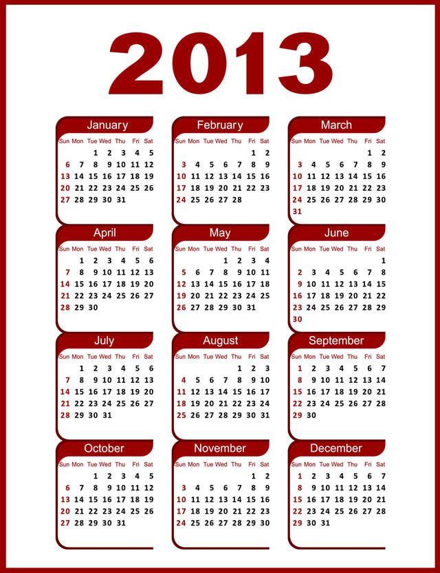 2013 calendar   2013 Calendar