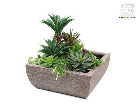 Giardino composizione piante grasse piante artificiali - Composizione giardino ...