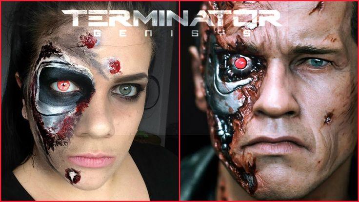Terminator Inspired Halloween Makeup Tutorial | MommaMakeup