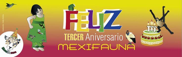 MEXIFAUNA: TERCER ANIVERSARIO DE MEXIFAUNA