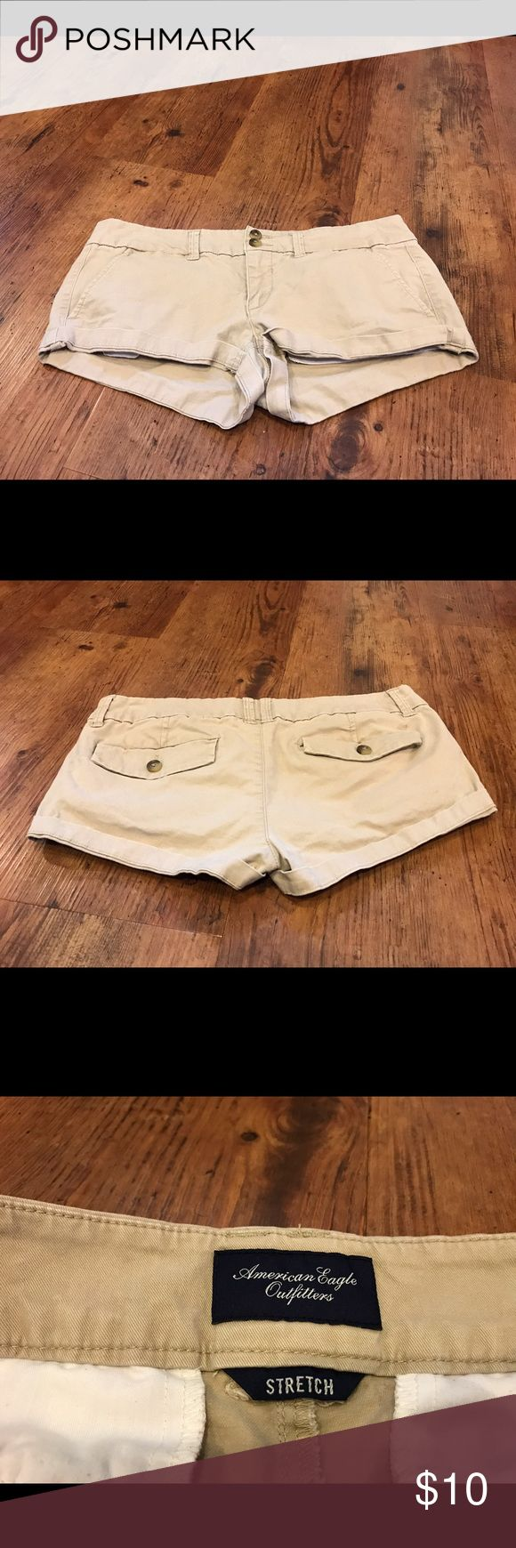 Selling this AE Women's Khaki Shorts on Poshmark! My username is: saracolfer11. #shopmycloset #poshmark #fashion #shopping #style #forsale #American Eagle Outfitters #Pants