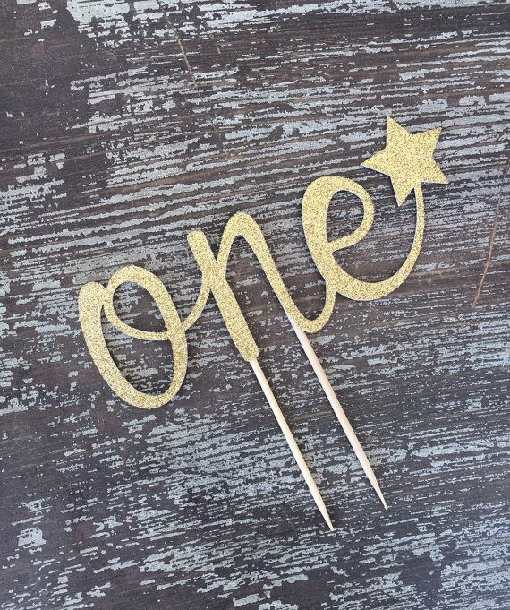 One Cake Topper First Birthday Cake Topper by HBSouthernInspired