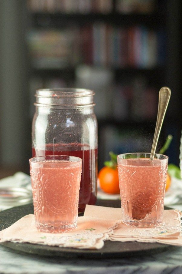 Blackberry-Raspberry Shrub. A drinking vinegar for fans of sour. Perfect for a grown-up nonalcoholic drink in soda or in a cocktail. From Blossom to Stem | Because Delicious www.blossomtostem.net