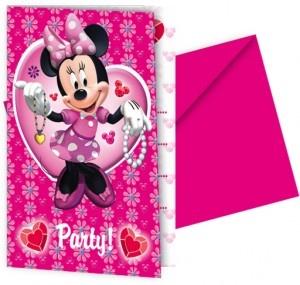 Minnie Mouse Party Invitations from Easykid