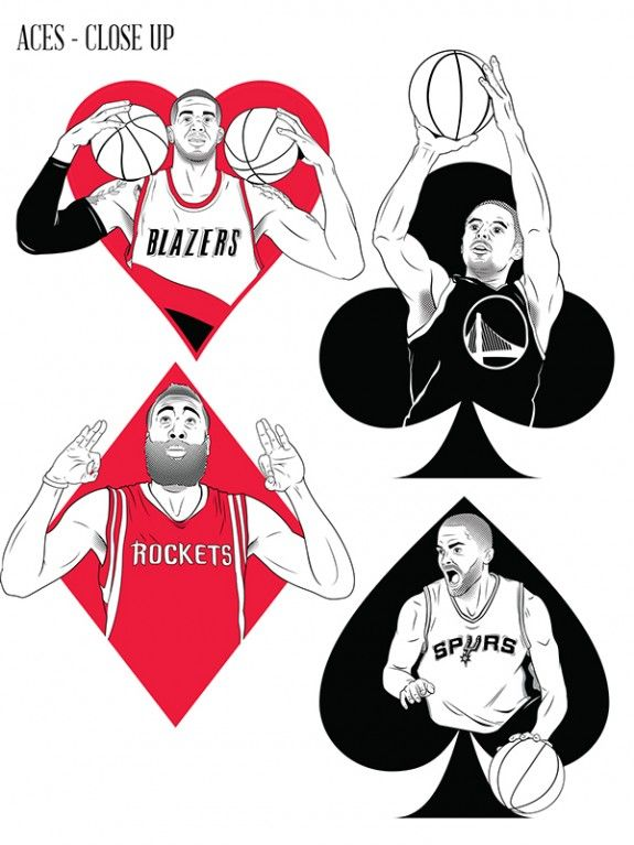 Nba Western Conference Playing Cards Hooped Up Baralhos Nba Basquete