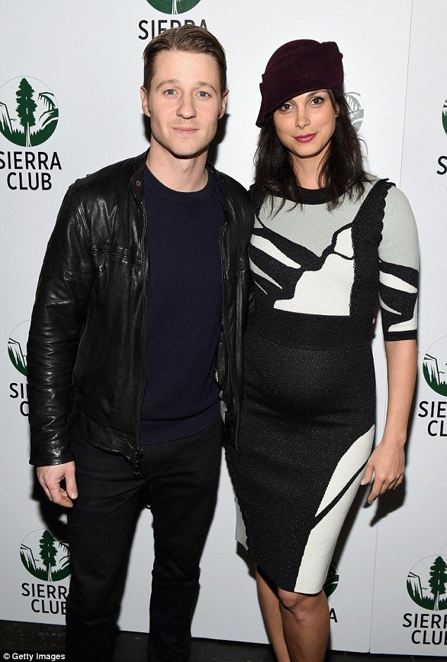 Bumping along: Ben McKenzie's pregnant girlfriend Morena Baccarin showed off her bump in a tight dress at the Sierra Club's Act In Paris, A Night Of Comedy And Climate Action in New York on Wednesday