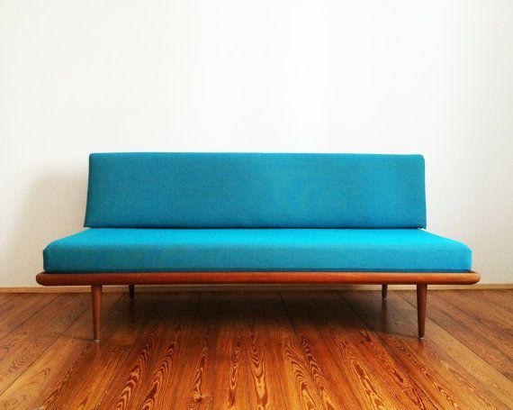 Sofa Daybed Peter Hvidt Minerva Teak Danish Modern Design Mid Century  50er 60er