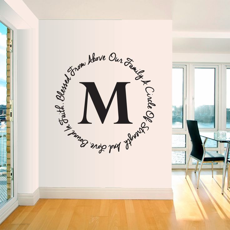 Our Family Custom Monogram Wall Decal