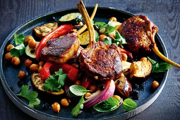 A splash of balsamic vinegar deglazes the pan and adds tang to roast vegies.
