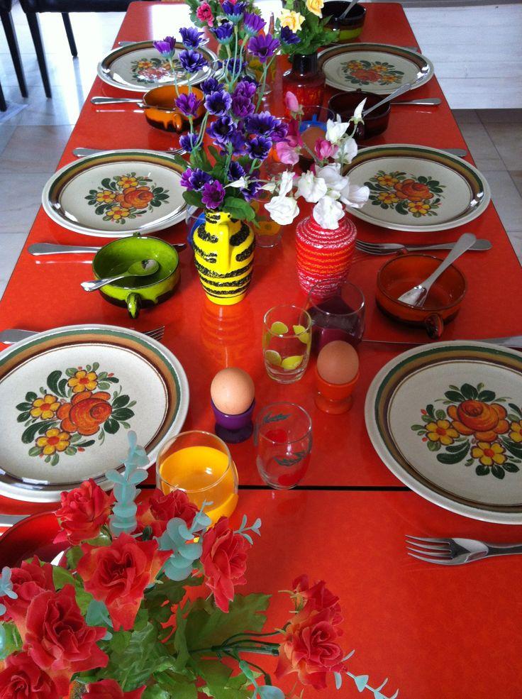 Retro eettafel formica tafel vintage dining table